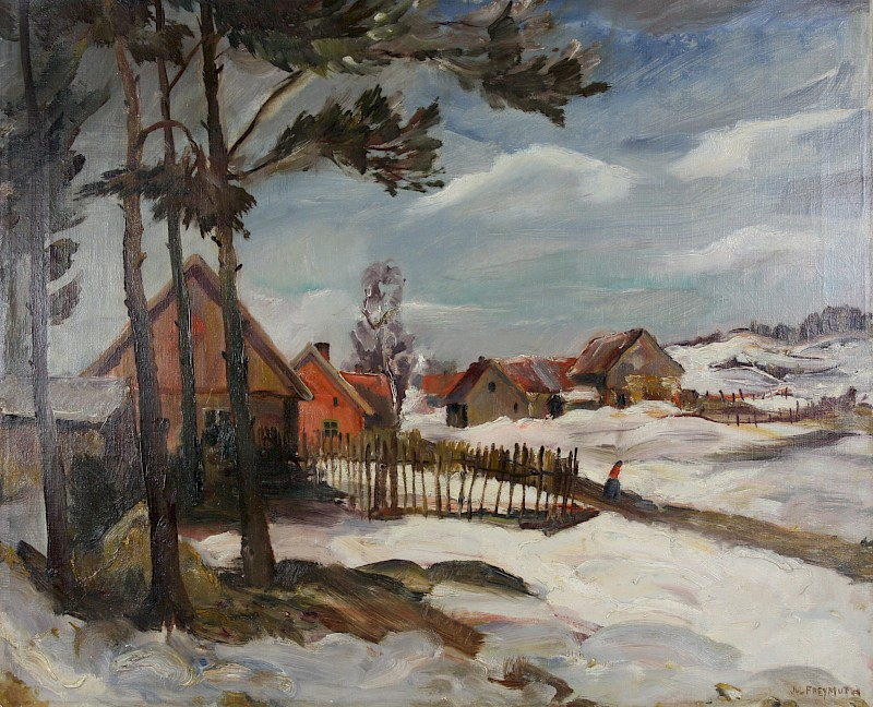 Winter in Masuren, Julius Freymuth, Öl, um 1927, © Ostpreußisches Landesmuseum